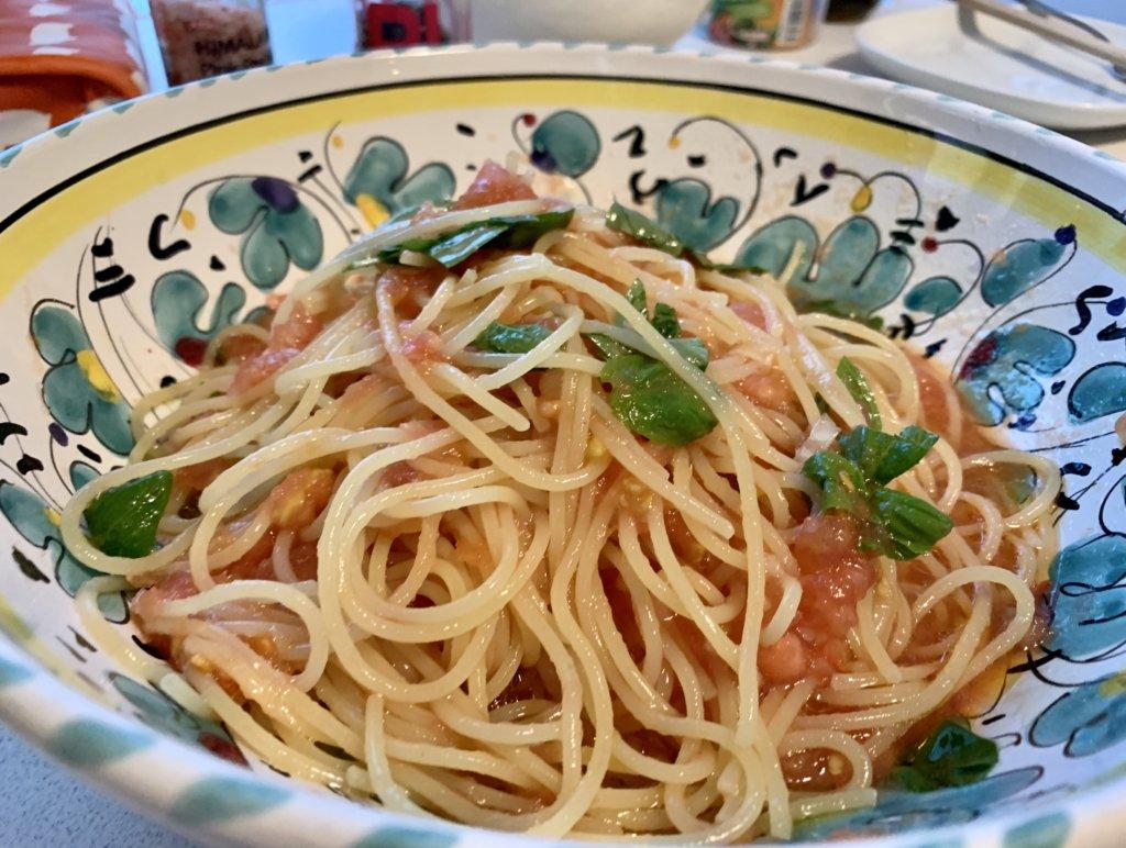 """勝手に料理リレー!【Capellini Freddi al Pomodoro """"冷たいトマトのパスタ""""】by terra Tokyo italian"""